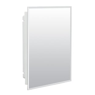 Best Choices Lamberson 15.5 x 19.5 Recessed Frameless Medicine Cabinet with 2 Adjustable Shelves ByWinston Porter
