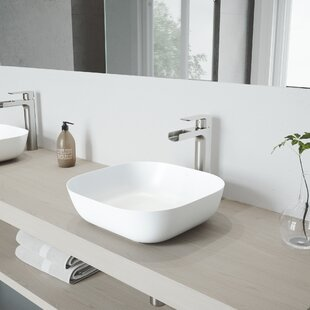 Great Price Camellia Stone Specialty Vessel Bathroom Sink with Faucet By VIGO