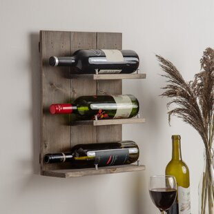 Conte 3 Bottle Wall Mounted Wine Rack