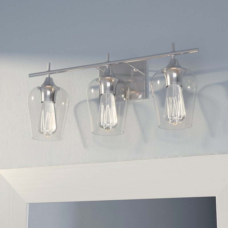 Staci 3-Light Vanity Light & Reviews | Joss & Main