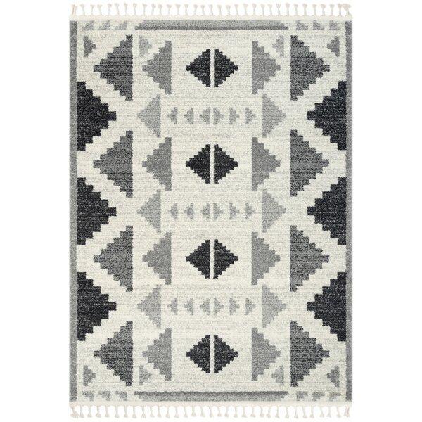 Well Woven Serenity Ada Moroccan Tribal Geometric Power Loom Grey Area Rug Wayfair