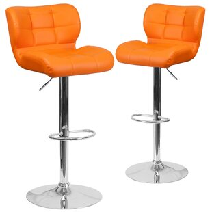 Buy luxury North Widcombe Adjustable Height Swivel Bar Stool (Set of 2) by Orren Ellis Reviews (2019) & Buyer's Guide