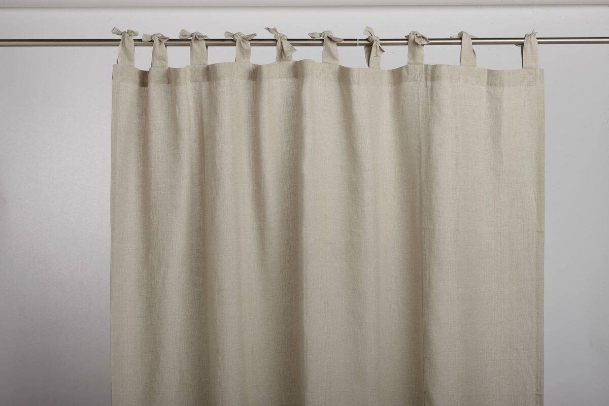 Breeze Linen Shower Curtain & Reviews | AllModern