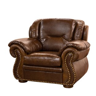 Fornirama Wyatt Top Grain Leather Club Chair