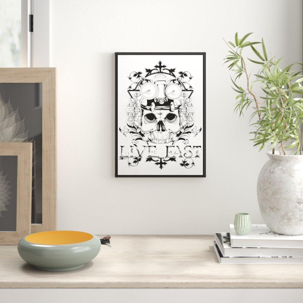 aufschauender Wolf Leinwandbild Wanddeko Kunstdruck