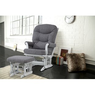 Sleigh Frame Glider and Ottoman ByDutailier