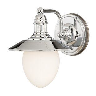 Doyal 1-Light Bath Sconce by Breakwater Bay