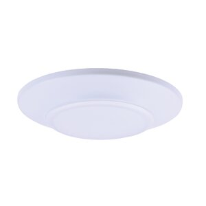 Adelinna 1-Light Glass LED Flush Mount