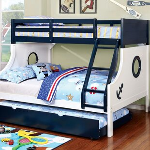 Boatner Roadster Twin Over Full Bunk Bed with Trundle by Harriet Bee