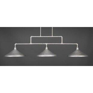 Williston Forge Kash 3-Light Cone Metal Kitchen Island Pendant