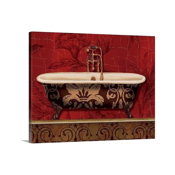 Royal Red Bath I By Lisa Audit Graphic Art Print