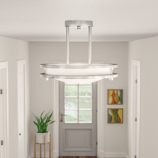 Chilton 1-Light Dimmable LED Semi-Flush Mount by Ebern Designs