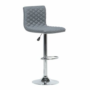 Waterbury Adjustable Height Swivel Bar Stool by Orren Ellis