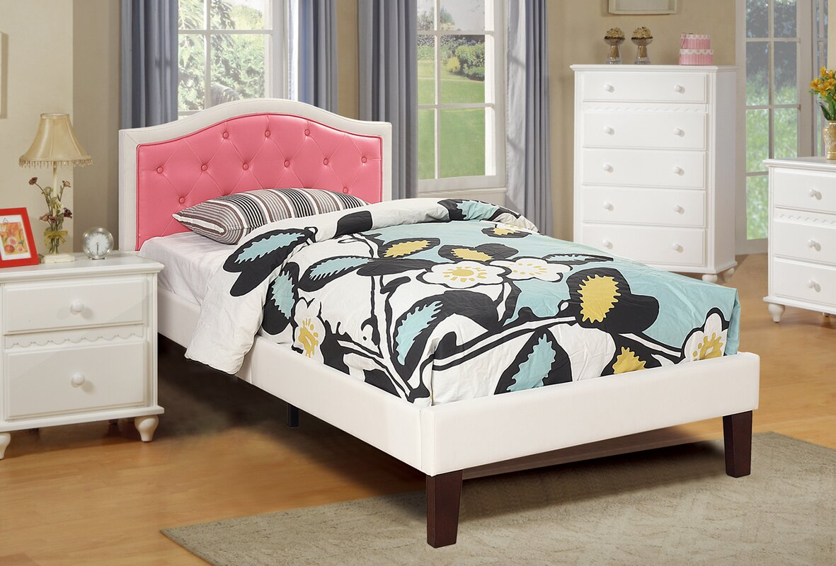 Harriet Bee Baley PU Upholstered Twin Bed Frame & Reviews | Wayfair