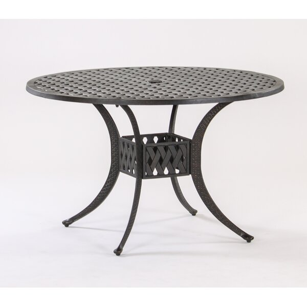 AIC Garden Casual Basket Weave Round Cast Aluminum Bistro Table