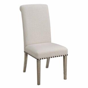 Gracie Oaks Restormel Rolled Back Parson Upholstered Dining Chair (Set of 2)