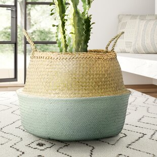 Find a Traditional Seagrass Basket with Handles By Mistana
