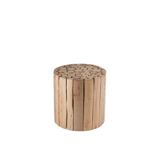 Augustine Discs Eucalyptus Wood Side Table By Union Rustic