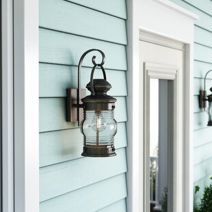 Online Reviews Laxford 1-Light Outdoor Wall Lantern By Beachcrest Home