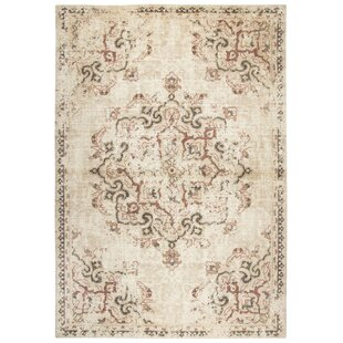 Esmeyer Wool Beige Area Rug by Bungalow Rose