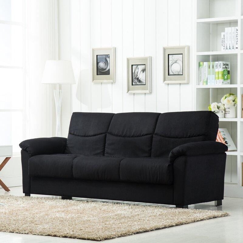 Melisa Fabric Storage Sleeper Sofa