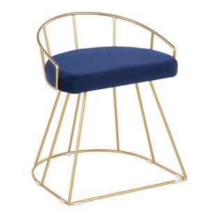 Fantastic Cortez Glam Contemporary Vanity Stool Dailytribune Chair Design For Home Dailytribuneorg
