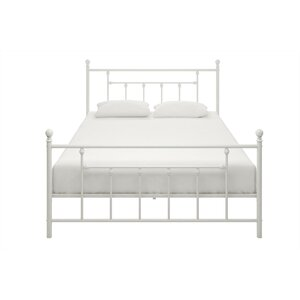 save to idea board bronze white - White Metal Bed Frame