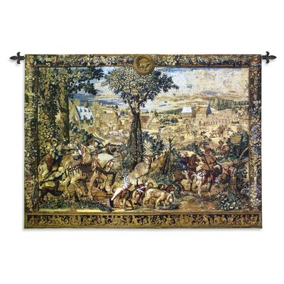 """Hunting Parties Of Archduke MaximilianWall Tapestry Fine Art Tapestries Size & Materials: 53"""" H x 76"""" W- Wool & Cotton"""