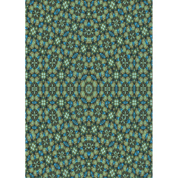 East Urban Home Geometric Wool Dark Sea Green Area Rug Wayfair