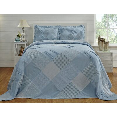 Lima Chenille bedspread Ophelia & Co. Color: Blue, Size: Twin Bedspread