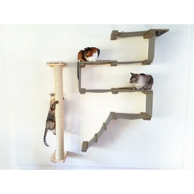 """53"""" Mod Wall-mounted Climbing Sisal Pole Catastrophicreations"""