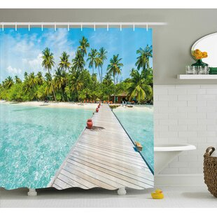 Maldives Island Shower Curtain + Hooks