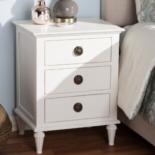 August Grove Michel 3 Drawer Nightstand