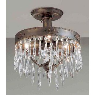 Duchess 3-Light Semi-Flush Mount by Classic Lighting