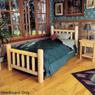 Rustic Natural Cedar Furniture Rustic Log Bed Slat Headboard