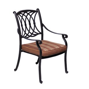 Islais Stacking Patio Dining Chair with Cushion (Set of 2)