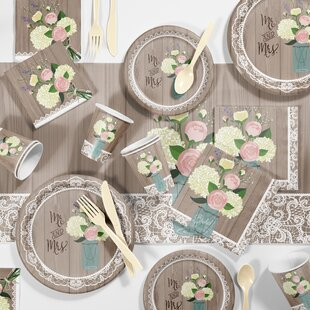 rustic wedding bridal shower party supplies kit