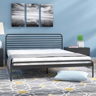 Alwyn Home Metal Platform Bed