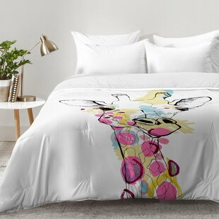Giraffe Color Comforter Set by East Urban Home