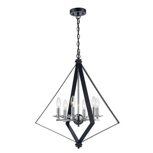 Laughlin 6-Light Geometric Chandelier by Wrought Studio