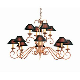 2nd Ave Design Quinton 12-Light Shaded Chandelier