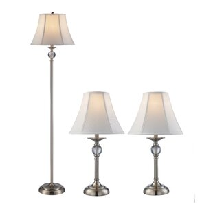 Rahate 3 Piece Table and Floor Lamp Set