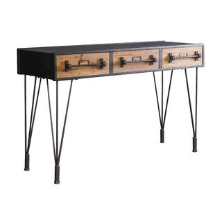 17 Stories Gunner Iron Console Table