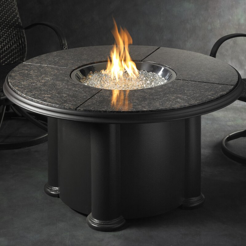 Crystal Fire Grand Colonial Stainless Steel Gas Fire Pit Table - The Outdoor GreatRoom Company Crystal Fire Grand Colonial Stainless