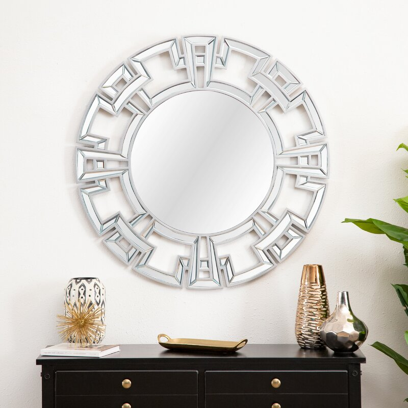 Willa Arlo Interiors Tata Openwork Round Wall Mirror Reviews Wayfair