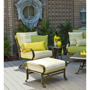 Cascade Patio Chair and Ottoman with Cushions