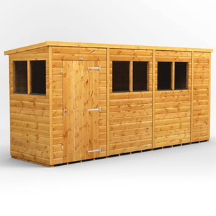 14 Ft. W X 4 Ft. D Shiplap Pent Wooden Shed By WFX Utility