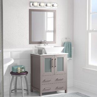 Knutsen 24 Single Bathroom Vanity Set with Mirror by Zipcode Design