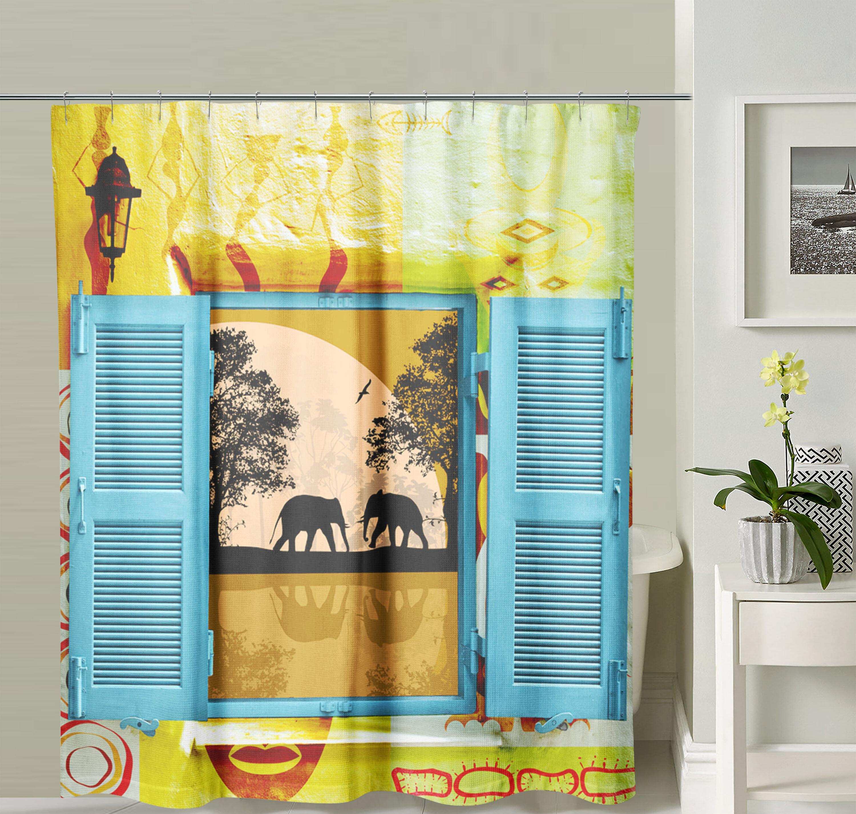 East Urban Home Elephant Single Shower Curtain Hooks Wayfair