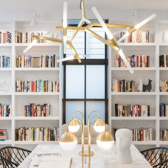 7 mid century staples that work in any home wayfair clean and modern library with mid century chandelier aloadofball